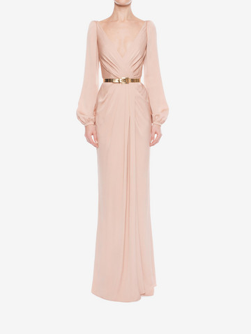 ALEXANDER MCQUEEN Long Wrap Dress Long Dress D r