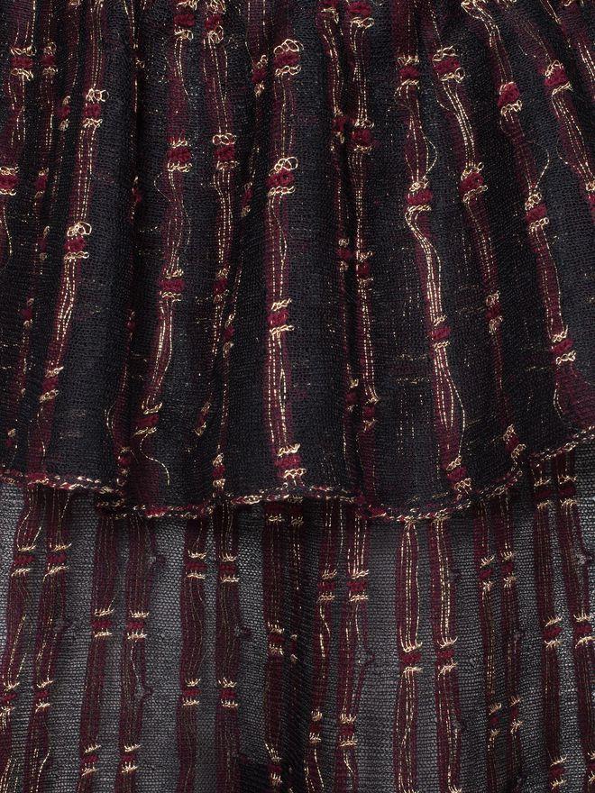 ALEXANDER MCQUEEN Patchwork Sheer Lace Mini Dress Mini Dress D a