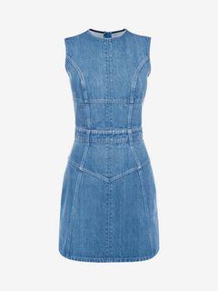 ALEXANDER MCQUEEN Mini Dress D Denim Mini Dress f