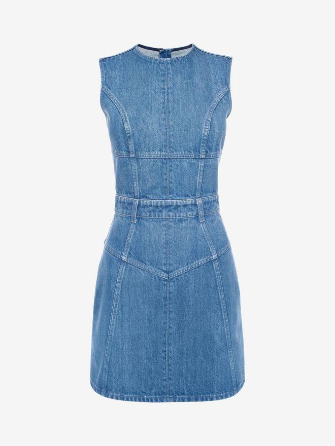 ALEXANDER MCQUEEN Denim Mini Dress Mini Dress D f