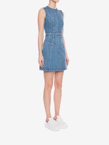 ALEXANDER MCQUEEN Denim Mini Dress Mini Dress D d