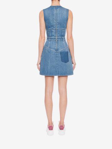 ALEXANDER MCQUEEN Denim Mini Dress Mini Dress D e