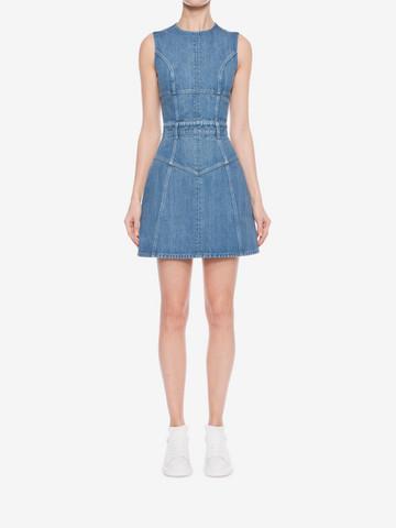 ALEXANDER MCQUEEN Denim Mini Dress Mini Dress D r