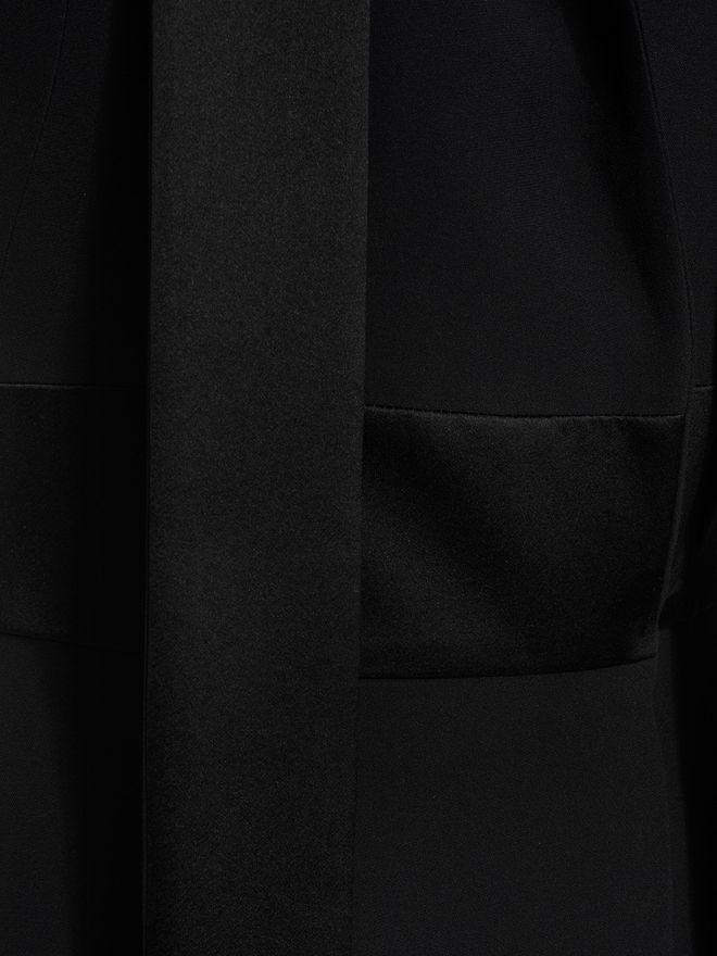 ALEXANDER MCQUEEN Tuxedo Lapel Dress Mid-length Dress D a
