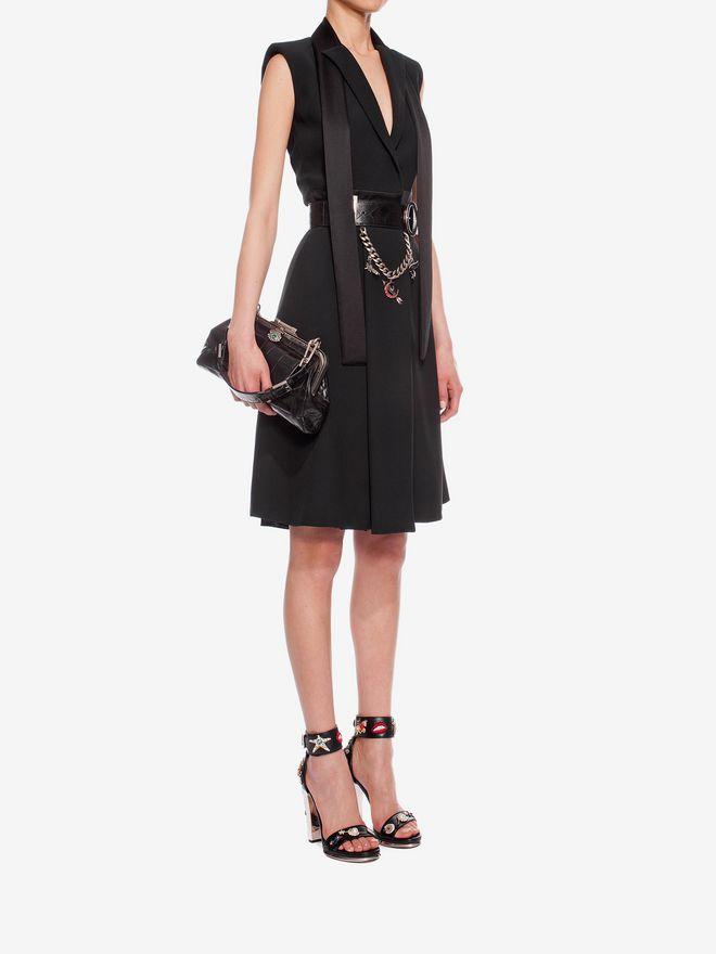 ALEXANDER MCQUEEN Tuxedo Lapel Dress Mid-length Dress D d