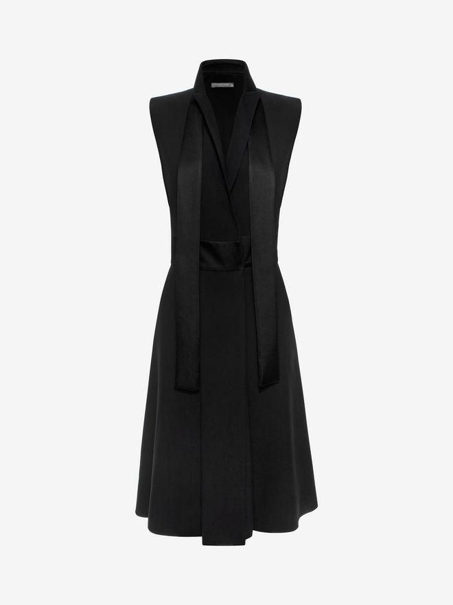 ALEXANDER MCQUEEN Tuxedo Lapel Dress Mid-length Dress D f