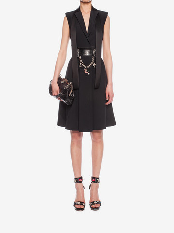 ALEXANDER MCQUEEN Tuxedo Lapel Dress Mid-length Dress D r