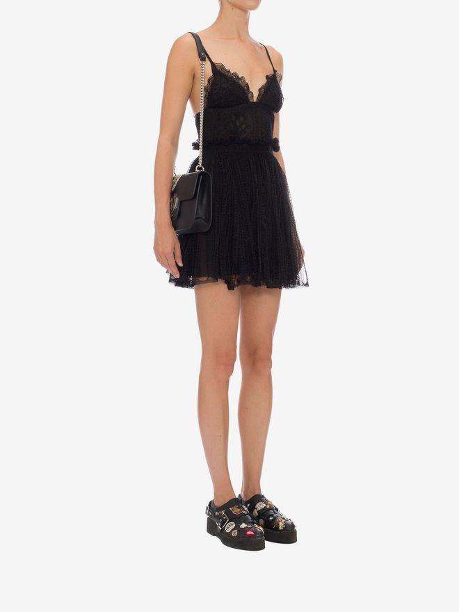 ALEXANDER MCQUEEN Punk Flower Lace Bra Dress Mini Dress D d