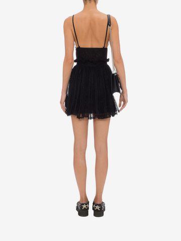 ALEXANDER MCQUEEN Punk Flower Lace Bra Dress Mini Dress D e