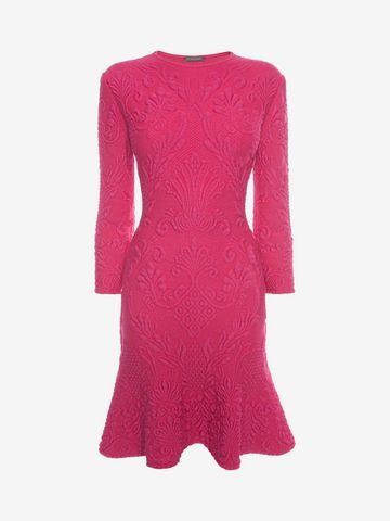 ALEXANDER MCQUEEN Quilting Pencil Dress Mini Dress D f