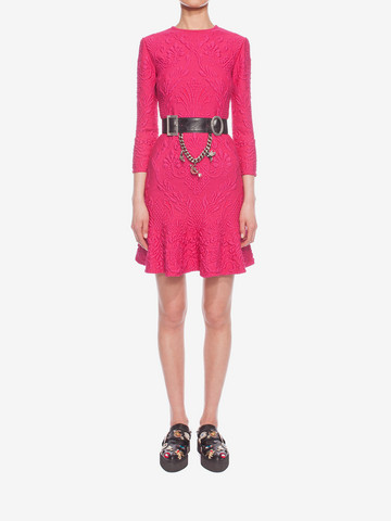 ALEXANDER MCQUEEN Quilting Pencil Dress Mini Dress D r