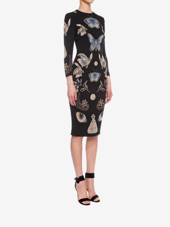 ALEXANDER MCQUEEN Obsession Pencil Dress Mid-length Dress D d