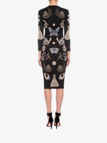 ALEXANDER MCQUEEN Obsession Pencil Dress Mid-length Dress D e