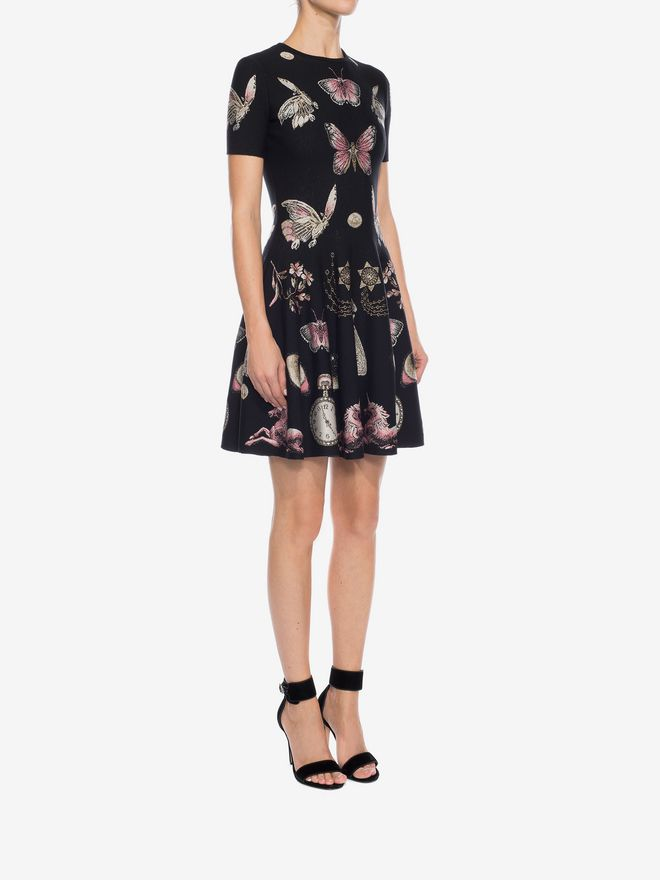 ALEXANDER MCQUEEN Obsession Volume Mini Dress Mini Dress D d