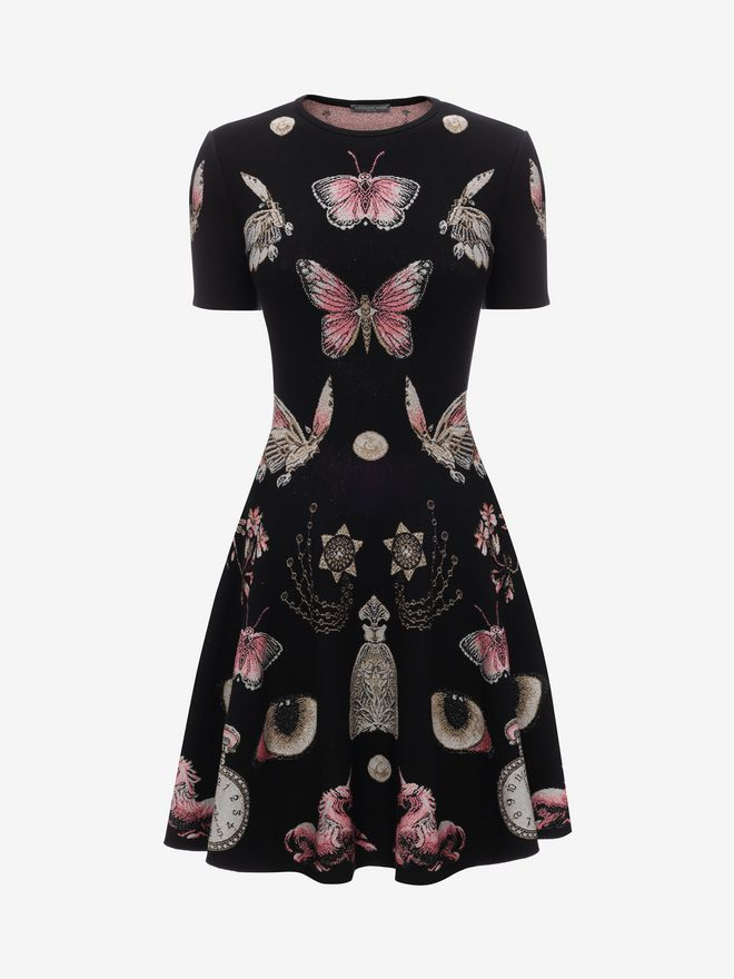 ALEXANDER MCQUEEN Obsession Volume Mini Dress Mini Dress D f