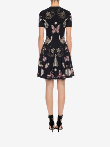 ALEXANDER MCQUEEN Obsession Volume Mini Dress Mini Dress D e