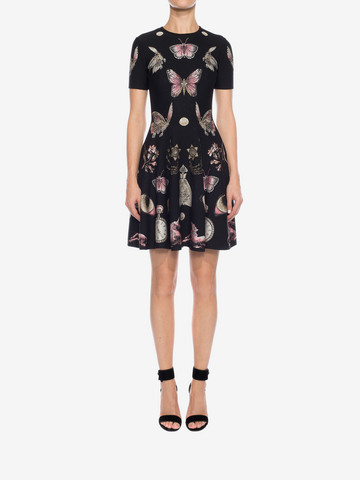 ALEXANDER MCQUEEN Obsession Volume Mini Dress Mini Dress D r