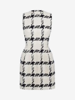 ALEXANDER MCQUEEN Mini Dress D Dogtooth Check Mini Dress f
