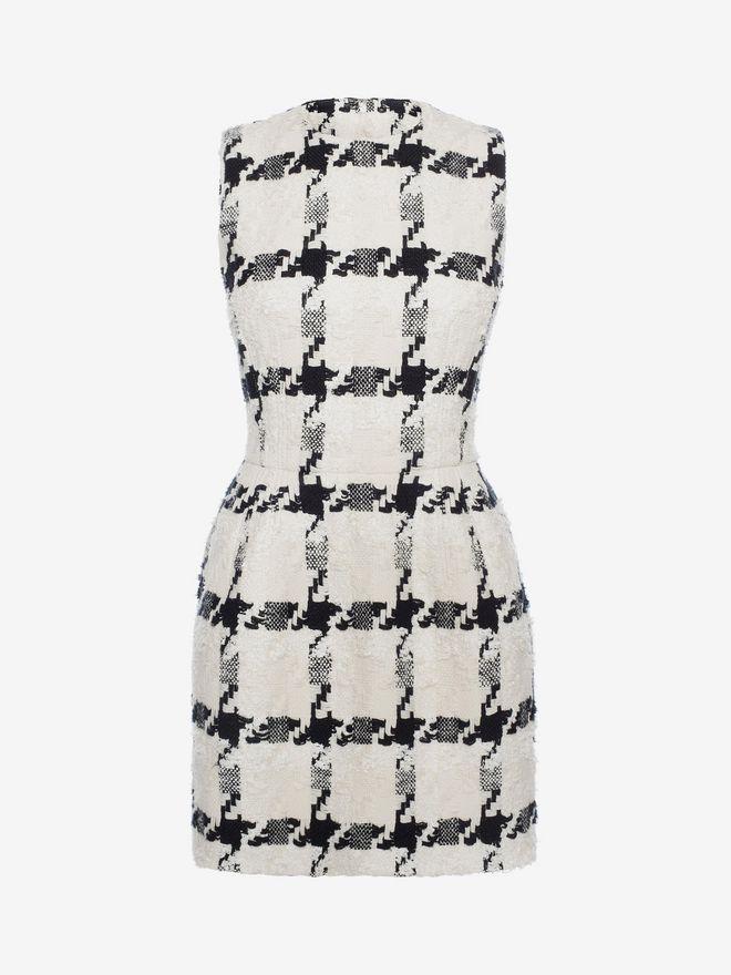 ALEXANDER MCQUEEN Dogtooth Check Mini Dress Mini Dress D f