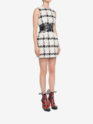 ALEXANDER MCQUEEN Dogtooth Check Mini Dress Mini Dress D d