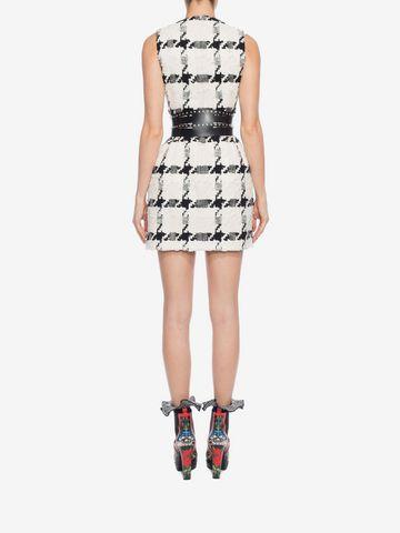 ALEXANDER MCQUEEN Dogtooth Check Mini Dress Mini Dress D e