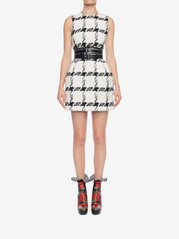 ALEXANDER MCQUEEN Dogtooth Check Mini Dress Mini Dress D r