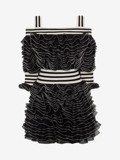 ALEXANDER MCQUEEN Mini Dress D Frill Mini Dress f