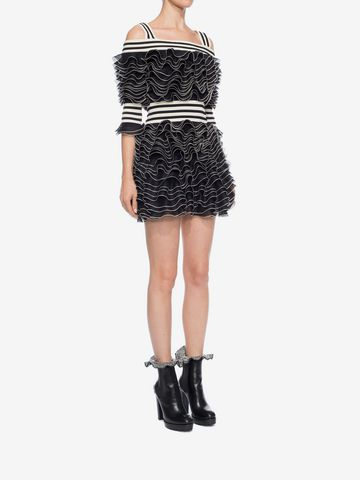 ALEXANDER MCQUEEN Frill Mini Dress Mini Dress D d