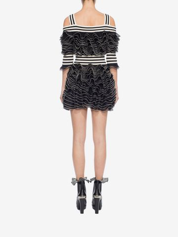 ALEXANDER MCQUEEN Frill Mini Dress Mini Dress D e