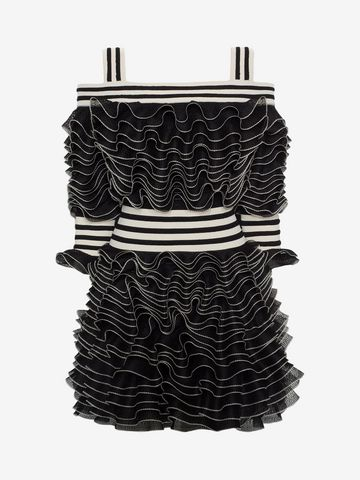ALEXANDER MCQUEEN Frill Mini Dress Mini Dress D f