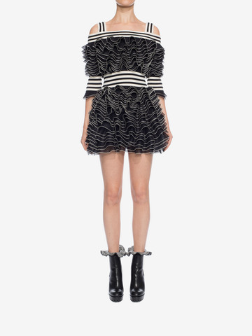 ALEXANDER MCQUEEN Frill Mini Dress Mini Dress D r