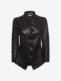 ALEXANDER MCQUEEN Jacket D Lambskin Leather Jacket f