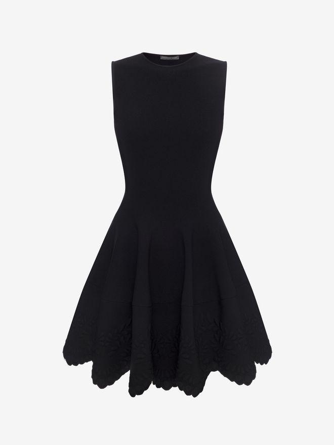 ALEXANDER MCQUEEN Knitted Flared Dress Mini Dress D f