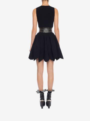 ALEXANDER MCQUEEN Knitted Flared Dress Mini Dress D e