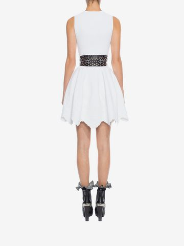 ALEXANDER MCQUEEN Knitted Flared Dress Mini Dress D e
