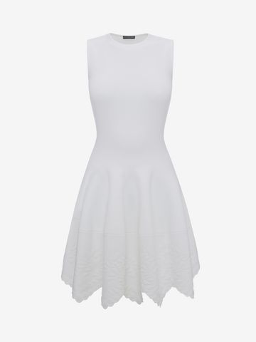 ALEXANDER MCQUEEN Knitted Flared Dress Mini Dress D f
