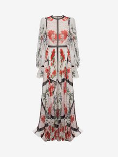 ALEXANDER MCQUEEN Long Dress D Floral Long Dress f