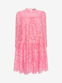 ALEXANDER MCQUEEN Mini Dress D Floral Lace Oversized Dress f