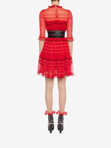 ALEXANDER MCQUEEN A-Line Mini Dress Mini Dress D e