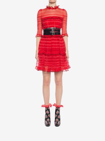 ALEXANDER MCQUEEN A-Line Mini Dress Mini Dress D r
