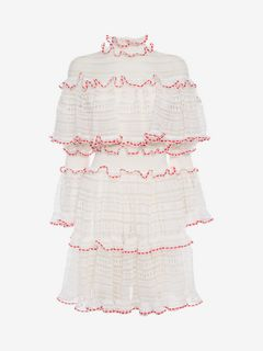 ALEXANDER MCQUEEN Mini Dress D High Neck Mini Dress f