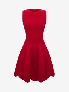 ALEXANDER MCQUEEN ミニドレス D Knitted Flared Dress f