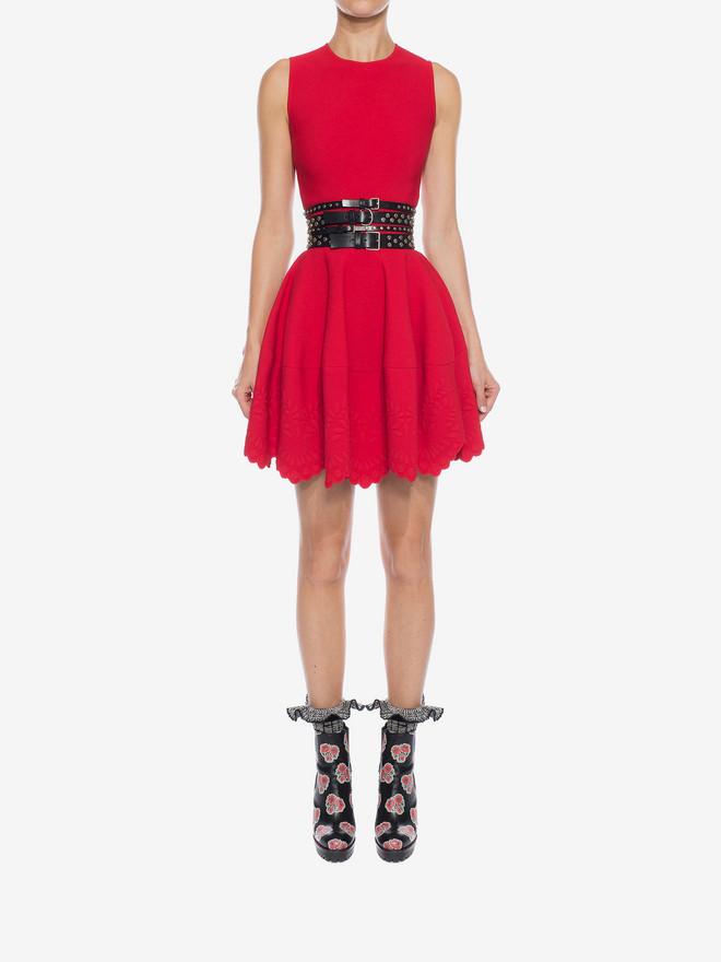 ALEXANDER MCQUEEN Knitted Flared Dress Mini Dress D r
