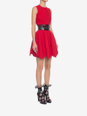 ALEXANDER MCQUEEN Knitted Flared Dress Mini Dress D d
