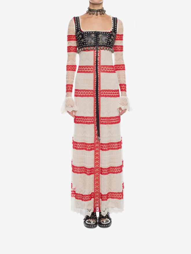 ALEXANDER MCQUEEN Long Lace Dress Long Dress D r