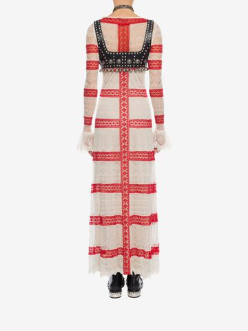 ALEXANDER MCQUEEN Long Lace Dress Long Dress D e