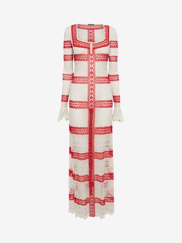 ALEXANDER MCQUEEN Long Lace Dress Long Dress D f