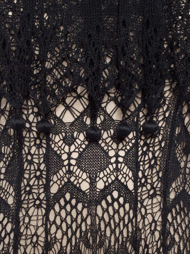 ALEXANDER MCQUEEN Pom Pom Lace Dress Long Dress D a
