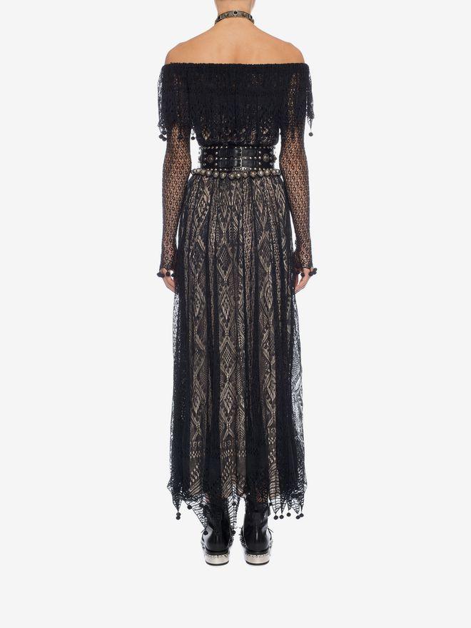 ALEXANDER MCQUEEN Pom Pom Lace Dress Long Dress D e