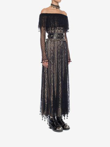 ALEXANDER MCQUEEN Pom Pom Lace Dress Long Dress D d